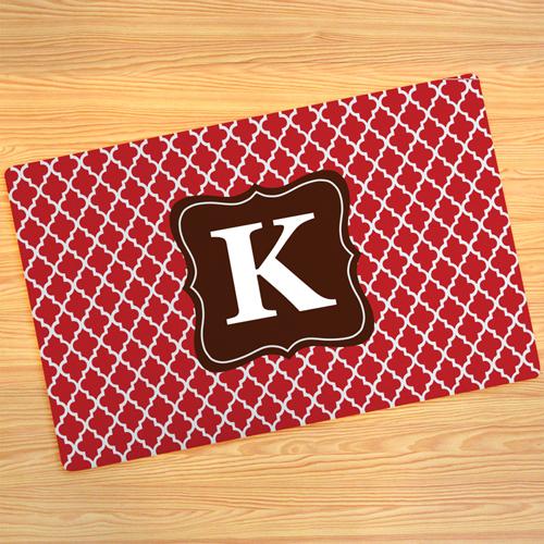 Rotes Kleeblatt Fußmatte Schmutzfangmatte Personalisieren