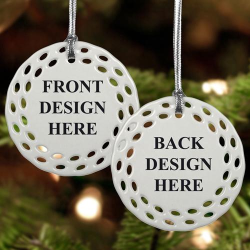 Schmuck Weihnachten.Rund Bunt Filigran Beidseitig Personalisieren Keramik Schmuck Weihnachten