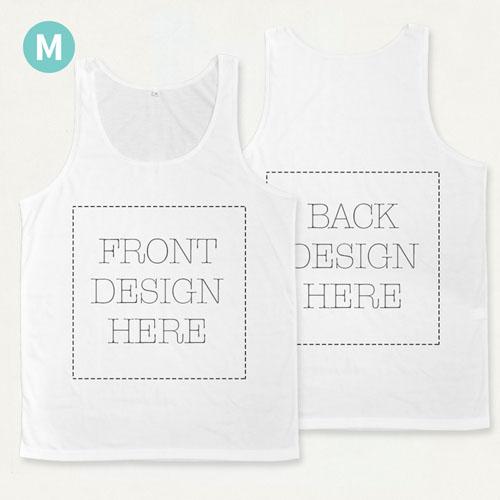 Custom Full Color Print Unisex Tank Top (Front And Back) (Medium)