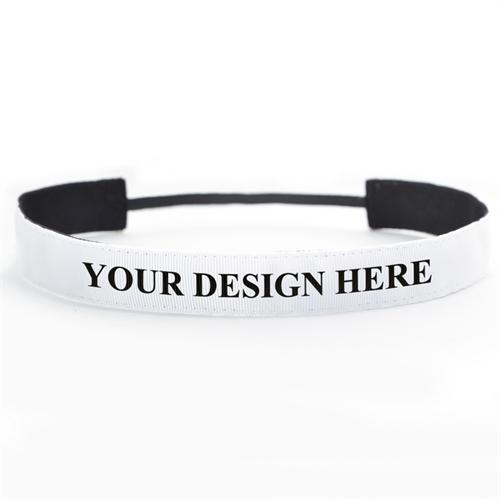Stirnband Personalisieren 25 mm breit Ihr Team Ihre Botschaft