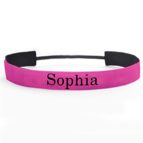 Hot Pink Stirnband Personalisieren 25 mm breit Ihr Team Ihre Botschaft