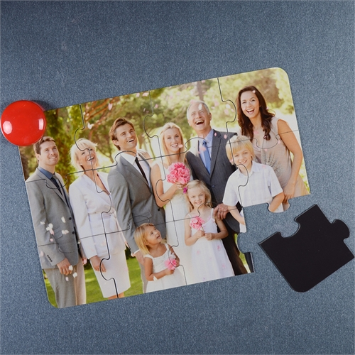 Magnetische Foto-Puzzle Einladung, 12,7 cm x 17,8 cm