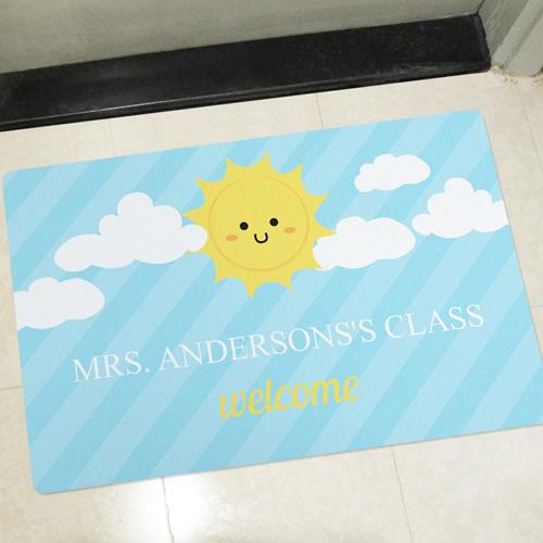 Sonne Wolken Blauer Himmel Türmatte Fußmatte Personalisieren Selbst Gestalten