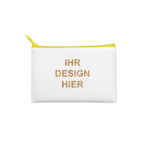 8,9 x 15,2 cm Glitzer Kosmetiktasche Beidseitig Personalisieren Reißverschluss gelb