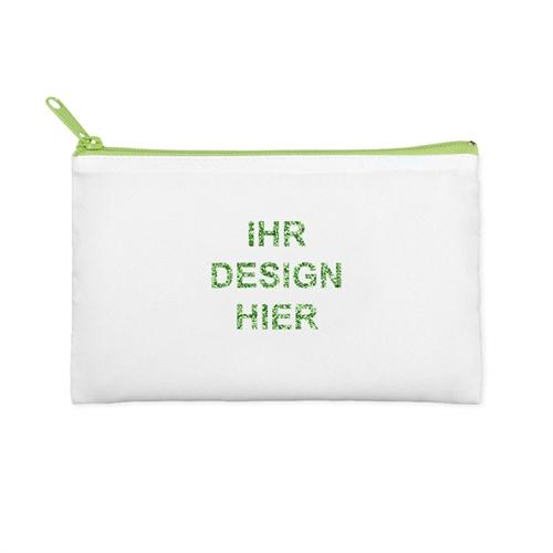 127 x 203 mm Glitzer Kosmetiktasche Beidseitig Personalisieren Reißverschluss grün