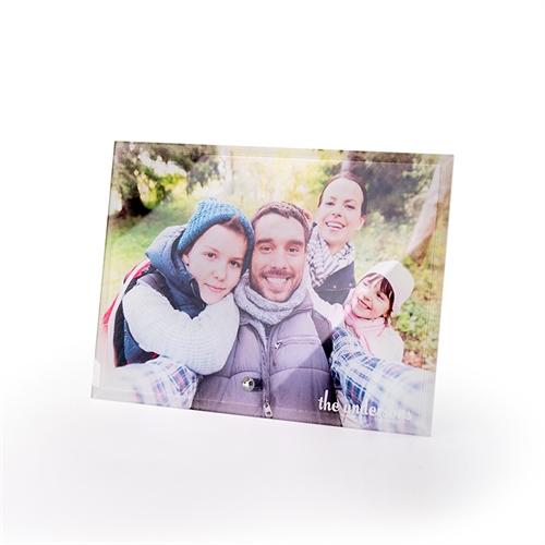 Foto Glasdruck Portrait zum Hinstellen Querformat 17,8 x 12,7 cm Personalisieren