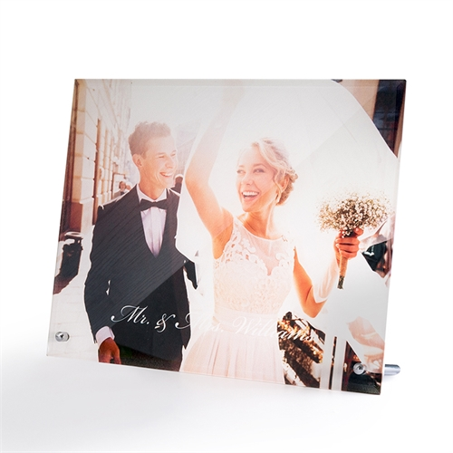 Foto Glasdruck Portrait zum Hinstellen Querformat 25,4 x 20,3 cm Personalisieren