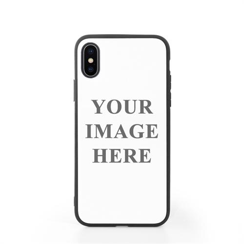 iPhone X Case Schwarzer Rand Personalisieren mit UV LED Druck