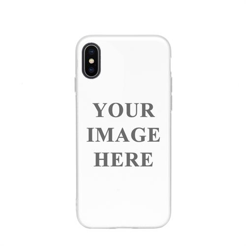 iPhone X Case Weißer Rand Personalisieren mit UV LED Druck