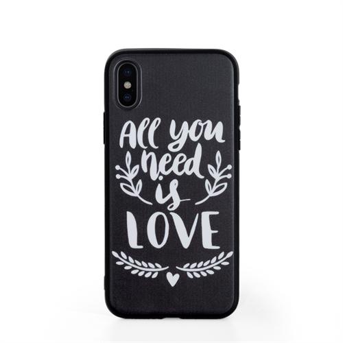 iPhone X Case Schwarz Personalisieren mit UV LED Druck