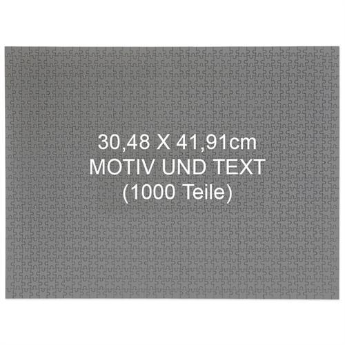 1000 Teile Personalisieren 30,5 x 41,9 cm Puzzle - Querformat