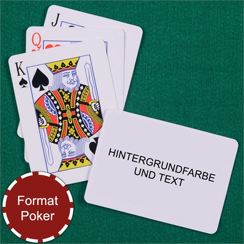 Standard Spielkarten, personalisierte Rückseite im Querformat
