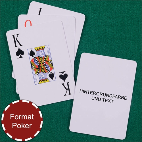 Großschrift Spielkarten mit personalisierter Rückseite, Hochformat