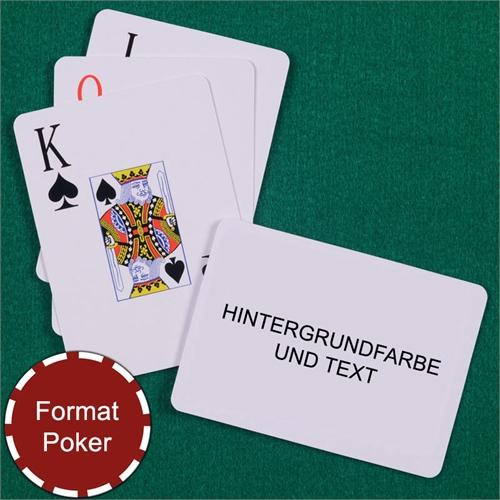 Großschrift Spielkarten mit personalisierter Rückseite, Querformat