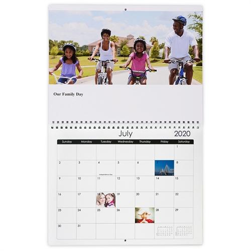 Wandkalender 216 mm x 279 mm, Schwarz und Weiß