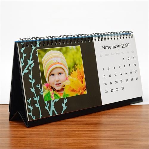 Tischkalender 127 x 279 mm, Schwarz und Weiß