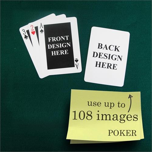 Klassische Spielkarten Poker Vorder- und Rückseite gestaltbar