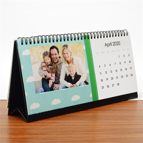 Tischkalender 216 mm x 280 mm, Hellblau