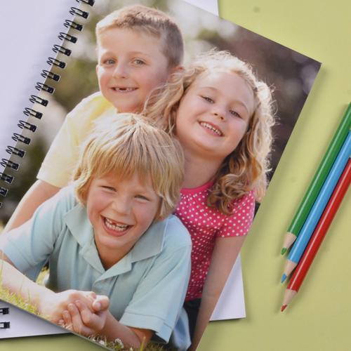 Notizbuch, Vollbild, Bitte Lächeln