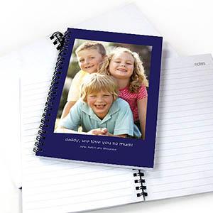 Notizbuch, Ein Foto, Zweizeilig, Blau