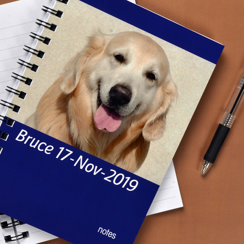 Notizbuch, Ein Foto, Querformat, Blau