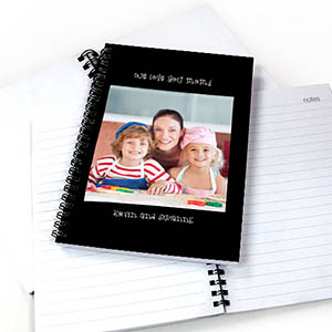 Notizbuch, Ein Foto, Doppeltitel, Schwarz