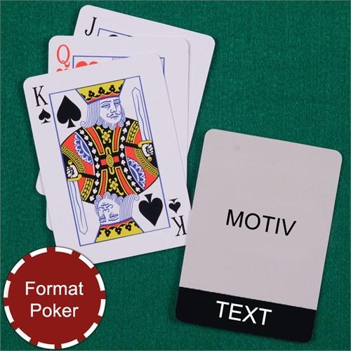 Coole Spielkarten Poker Schwarz