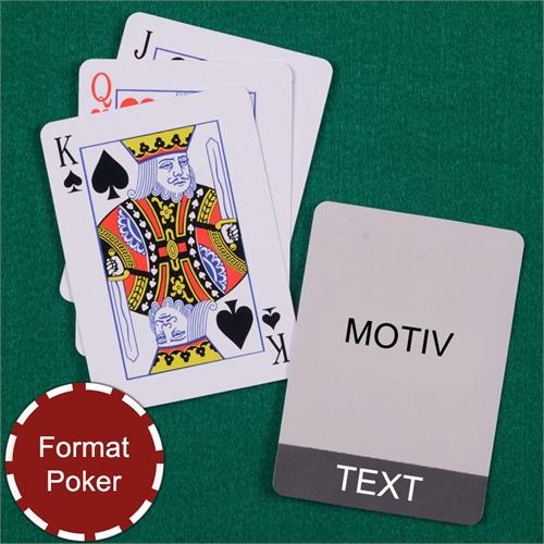 Coole Spielkarten Poker Grau