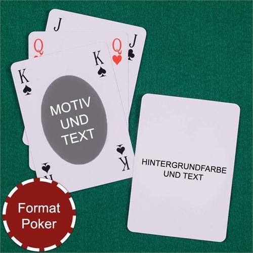 Bridge Spielkarten Ovaler Bilderrahmen Beidseitig Personalisierbar
