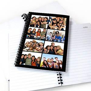 Notizbuch, Acht Fotos, Schwarz