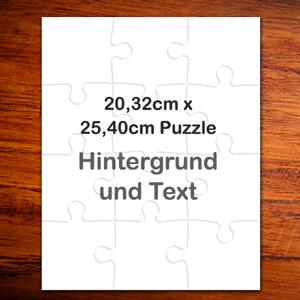 Personalisiertes 25,4 x 20, 3 cm Puzzle