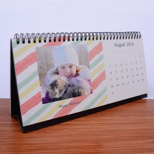Tischkalender 127 x 279 mm, Wasserfarben