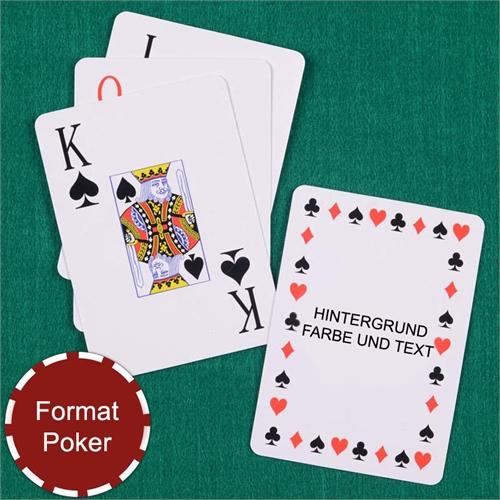 Zeitlose Großschrift Spielkarten personalisiert