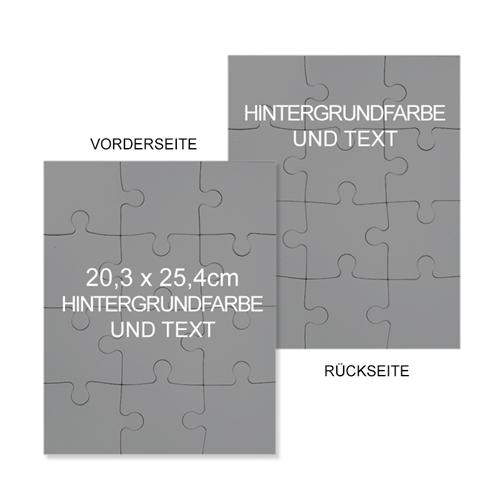 Beidseitges Puzzle Personalisiert 20,32 cm x 25,40 cm