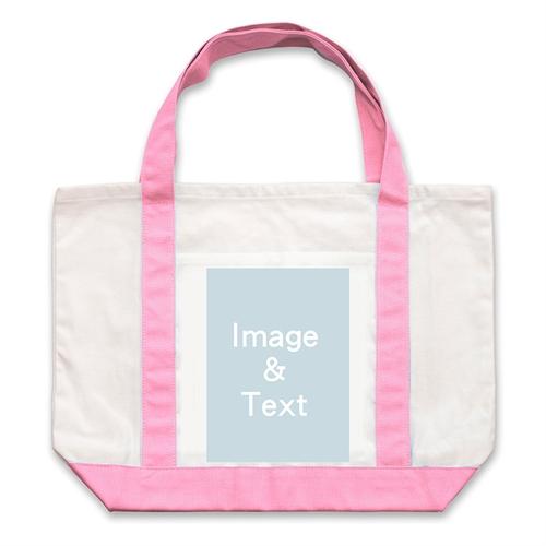 Leinwandtragetasche Ein Foto Rosa Hochformat