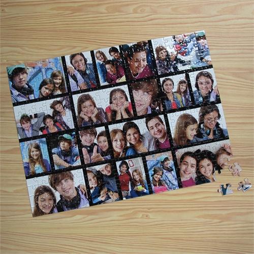 Facebook Großes Kollage Fotopuzzle, Schwarz, 20 Fotos, Setzkasten