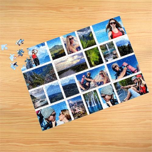 Facebook  Großes Foto Kollagepuzzle , Weiß, 20 Fotos, Setzkasten