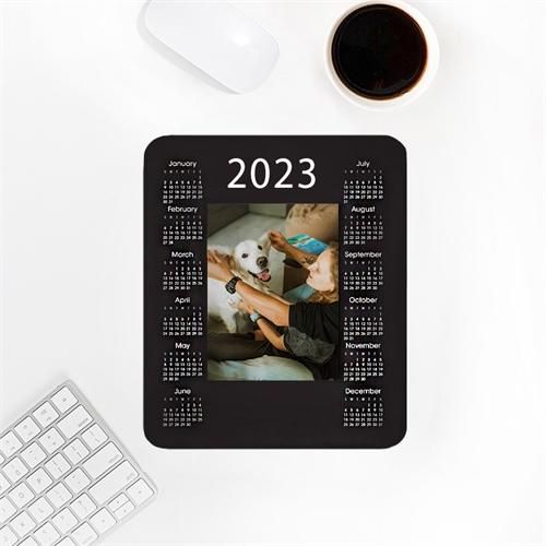 Tag für Tag Kalender Foto Mauspad Weiß
