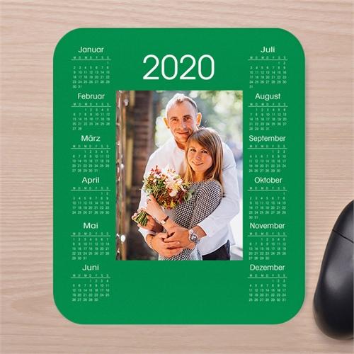 Tag für Tag Foto Kalender Mauspad Grün