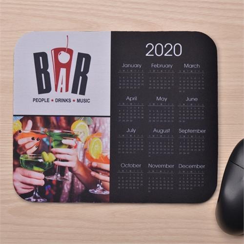 2 Fotos Kalender Kollage Mauspad Schwarz