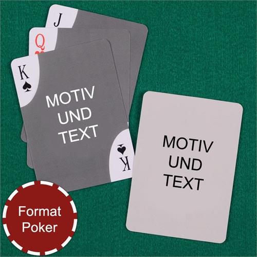 Decoecken Spielkarten Vorder- und Rückseite personalisieren