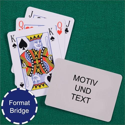 Bridgekarten mit Bild und Text selbstmachen im Querformat