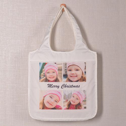 Vier Fotos Schnappschuss Shoppingtasche