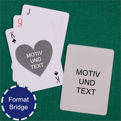 Bridge Herzkarten Hochformat