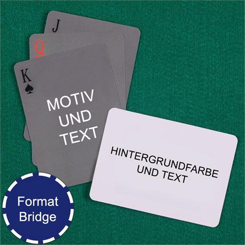 Bridge einfaches Kartenspiel Querformat mit Hintergrund