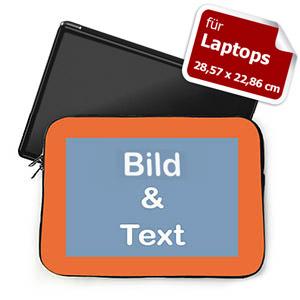 Personalisierte Laptop Tasche Klein Orange