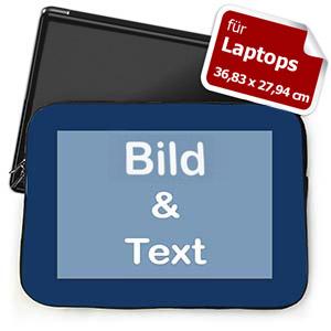 Personalisierte Laptop Tasche Groß Blau