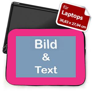 Persoanlisierte Laptoptasche Groß Pink farbener Rand
