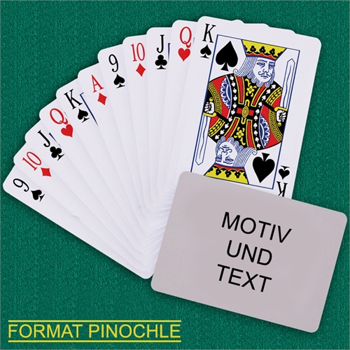 Binokel Spielkarten Querformat Selbstgestaltet