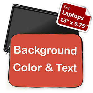 Roter Hintergrund Text personalisiert Mittelgroße Laptoptasche
